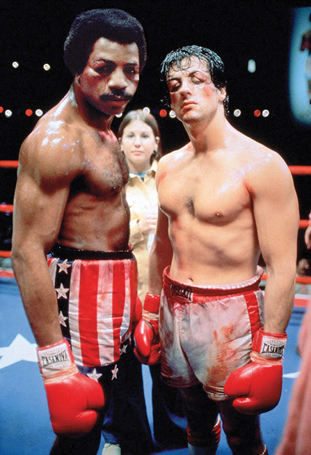 Carl Weathers and Sylvester Stallone / Rocky / 1976 directed by John G. Avildsen