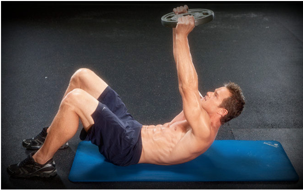 Weighted-Crunch-to-get-six-pack-abs